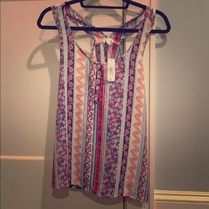 NWT charming Charlie red white and blue tank top!